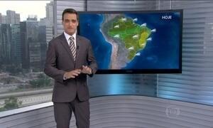 Veja a previsão do tempo para esta segunda-feira (8) em todo o Brasil