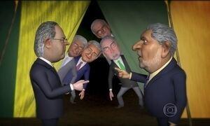 Lula e José Dirceu trocam acusações no Circo dos Políticos