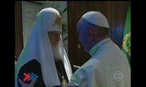 Papa Francisco se encontra com o patriarca da Igreja Ortodoxa Russa em Cuba