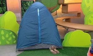 Hoje é dia de acampar: barraca