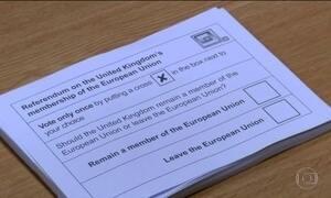 Britânicos vão às urnas para decisão histórica sobre futuro do país na UE