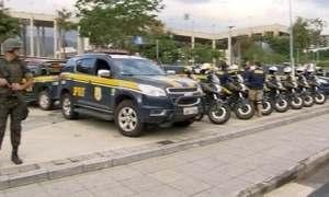 Rio passa por grande simulação de trânsito e segurança para a Olimpíada