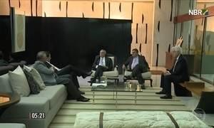 Temer recebe presidentes da Câmara e do Senado