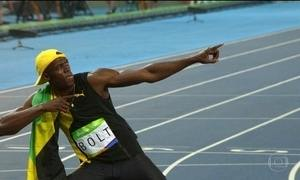 Usain Bolt conquista o tricampeonato olímpico nos 100m rasos