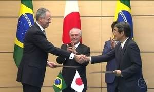 Presidente Michel Temer é recebido pelo imperador Akihito no Japão