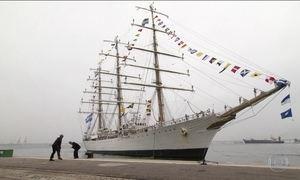 Fragata da Marinha argentina atraca no Rio e ficará aberta à visitação