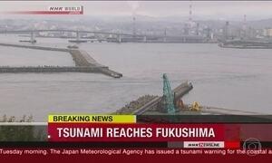 Terra treme em Fukushima, no Japão, arrasada pelo tsunami de 2011