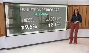 Gasolina e diesel ficam mais caros nas refinarias