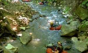 Cachoeira da Serra Azul (MT) é convite para prática de 'boia cross'
