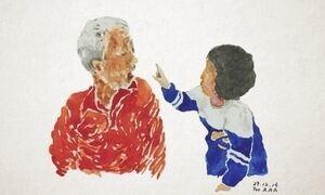 Desenhos encurtam distância entre vovô e netos que foram a morar longe