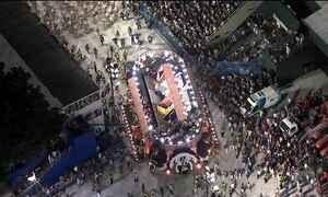 Acidente com carro da Unidos da Tijuca afeta desfile da escola