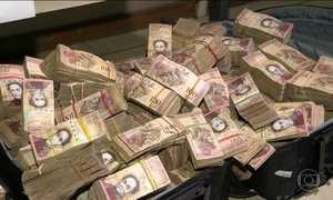 Polícia investiga 40 milhões de bolívares venezuelanos em favela