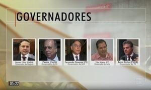 Cinco governadores fazem parte de lista entregue por Rodrigo Janot