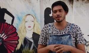 Artista do Ceará recebe convite de Madonna e pinta mural na África
