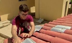 Estudantes inventam telhado com caixa de leite
