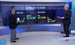 Dólar dispara e bolsa fecha no vermelho