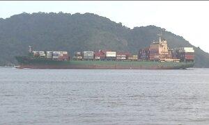 Assoreamento do Canal de Santos provoca prejuízo milionário no porto