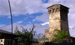 Cidade medieval na Geórgia conserva construções com quase mil anos