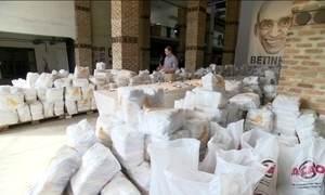 ONG lembra os 20 anos da morte de Betinho distribuindo alimentos