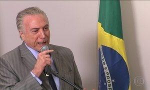 Em cerimônia no Rio, Temer não fala sobre segunda denúncia contra ele
