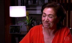Lília Cabral se emociona ao falar da batalha de quem precisa vencer o vício