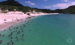 Praia em Arraial do Cabo, no RJ, tem limite máximo de visitantes por vez
