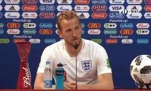 Harry Kane, craque da Inglaterra, pede música no Fantástico após fazer 3 gols