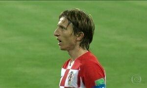 Croácia disputa a final da Copa depois de ter superado três prorrogações