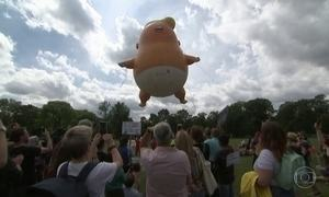 Trump enfrenta terceiro dia de protestos no Reino Unido