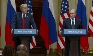 Em Helsinque, Trump surpreende ao apoiar Putin e contradizer CIA