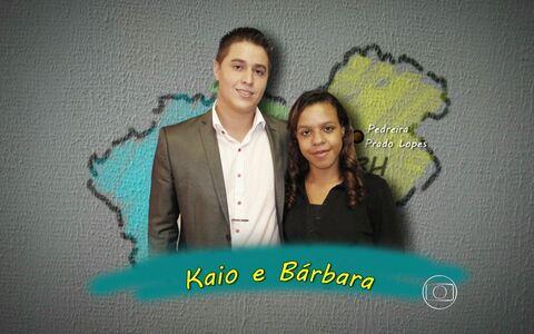 Saiba mais sobre a dupla  Kaio e Bárbara