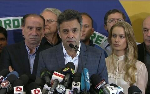 Aécio diz que a união do Brasil é prioridade (Valter Campanato/Agência Brasil)