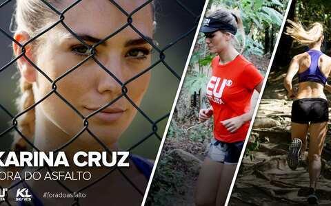 Fora do Asfalto: modelo Karina Cruz encara desafio em prova de montanha