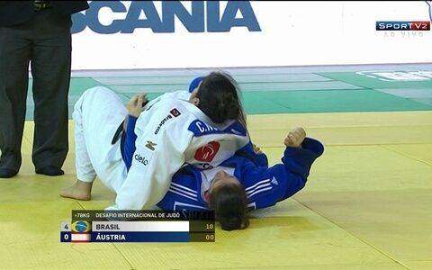 Camila Nogueira vence Sarah Mairhofer pelo desafio internacional de judô