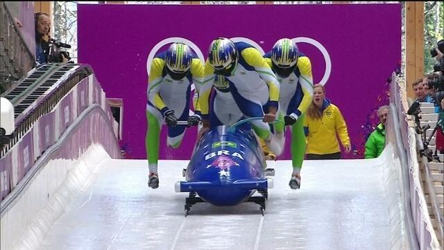 Quarteto brasileiro larga mal no bobsled e fica em penúltimo lugar