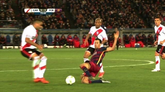Jogadas duras marcam decisão do Mundial de Clubes da FIFa entre Barcelona x River Plate