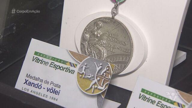 Santos promove exposição olímpica