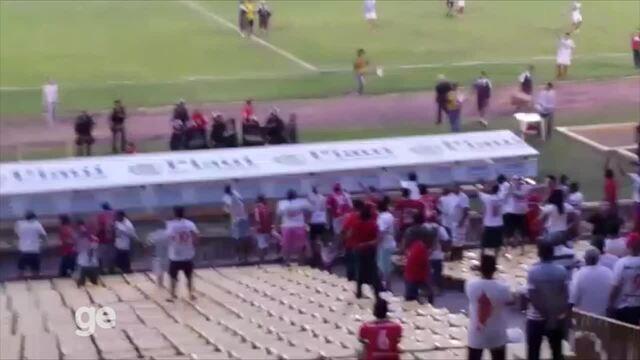 Torcida do River-PI reclama de atuação de árbitro pela Série C