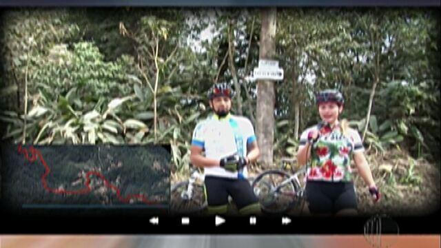 Tô na Fita: Ciclista, Gisele Calabrez, mostra percurso em um dos seus treinos