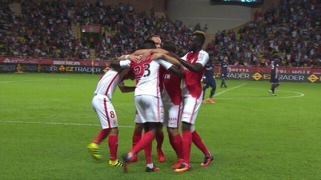 Os gols de Mônaco 3 x 1 Paris Saint-Germain pelo Campeonato Francês
