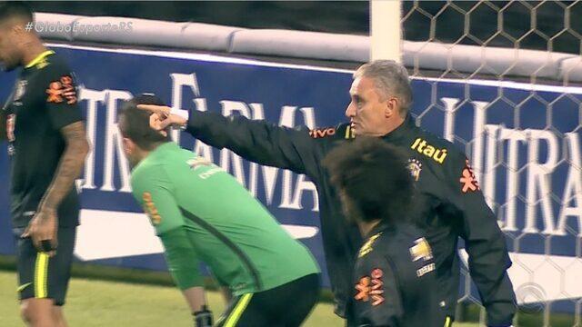 Tite comanda primeiro treino na Seleção Brasileira