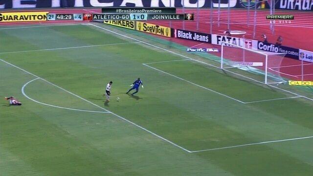 Os gols de Atlético-GO 1 x 1 Joinville - 28ª rodada da Série B
