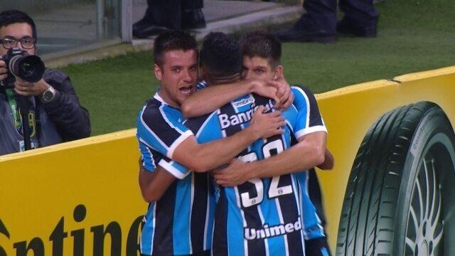 Os gols de Grêmio 2 x 1 Palmeiras pelas quartas de final da Copa do Brasil
