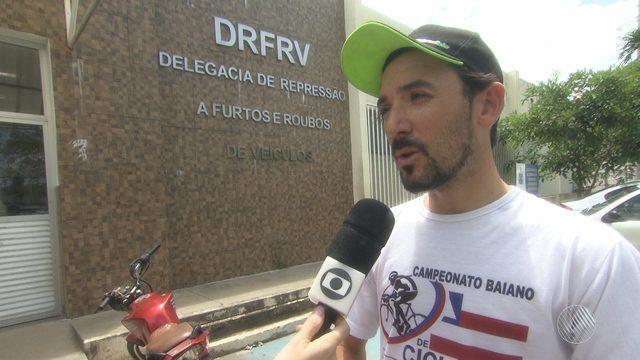 Campeão baiano de ciclismo tem bicicleta roubada no Centro Administrativo da Bahia