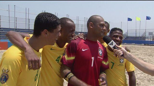 Seleção brasileira participa do mundialito de beach soccer