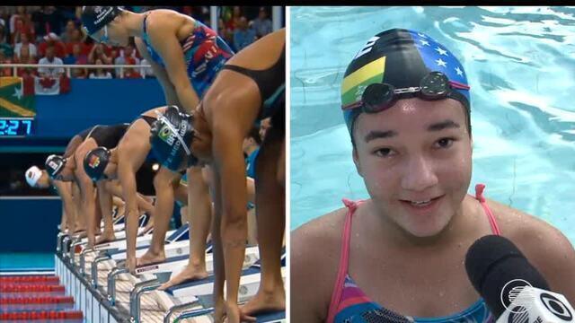 Nadadora se inspira em recordista olímpico e sonha com medalha de ouro