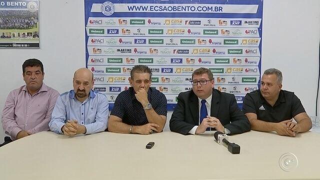 São Bento confirma a permanência do técnico Paulo Roberto Santos