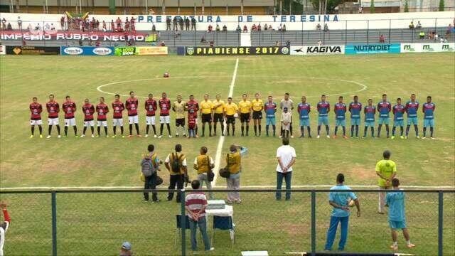 Piauí x Flamengo-PI - Hino Nacional Brasileiro