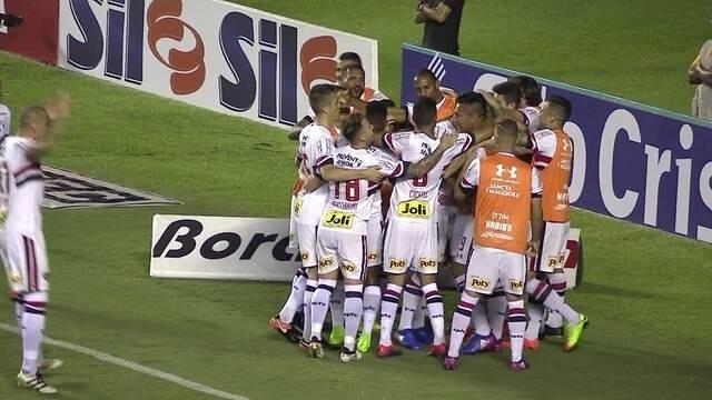 Os gols de São Paulo 3 x 2 São Bento pelo Campeonato Paulista 2017