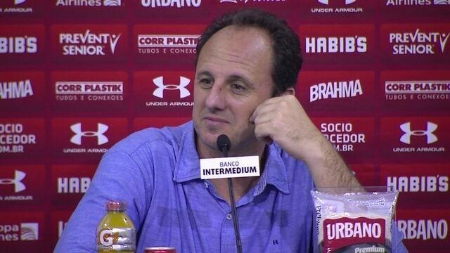 Rogério comenta vitória sobre São Bento e diz que Dênis será titular contra Novorizontino